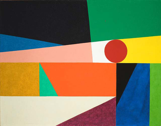 Feinstein_Abstract Classicists_Frederick Hammerslet_Around a round 1959