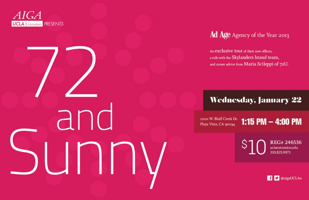 AIGA-UCLAx-72andSunny-Poster