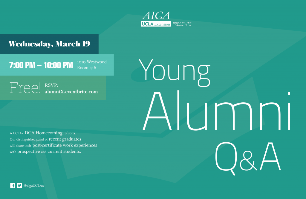 AIGA UCLAx Alumni Panel Poster_March 19