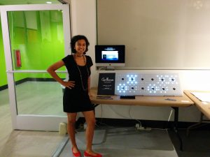 Aneesha with her sensing project, Carpe Energia