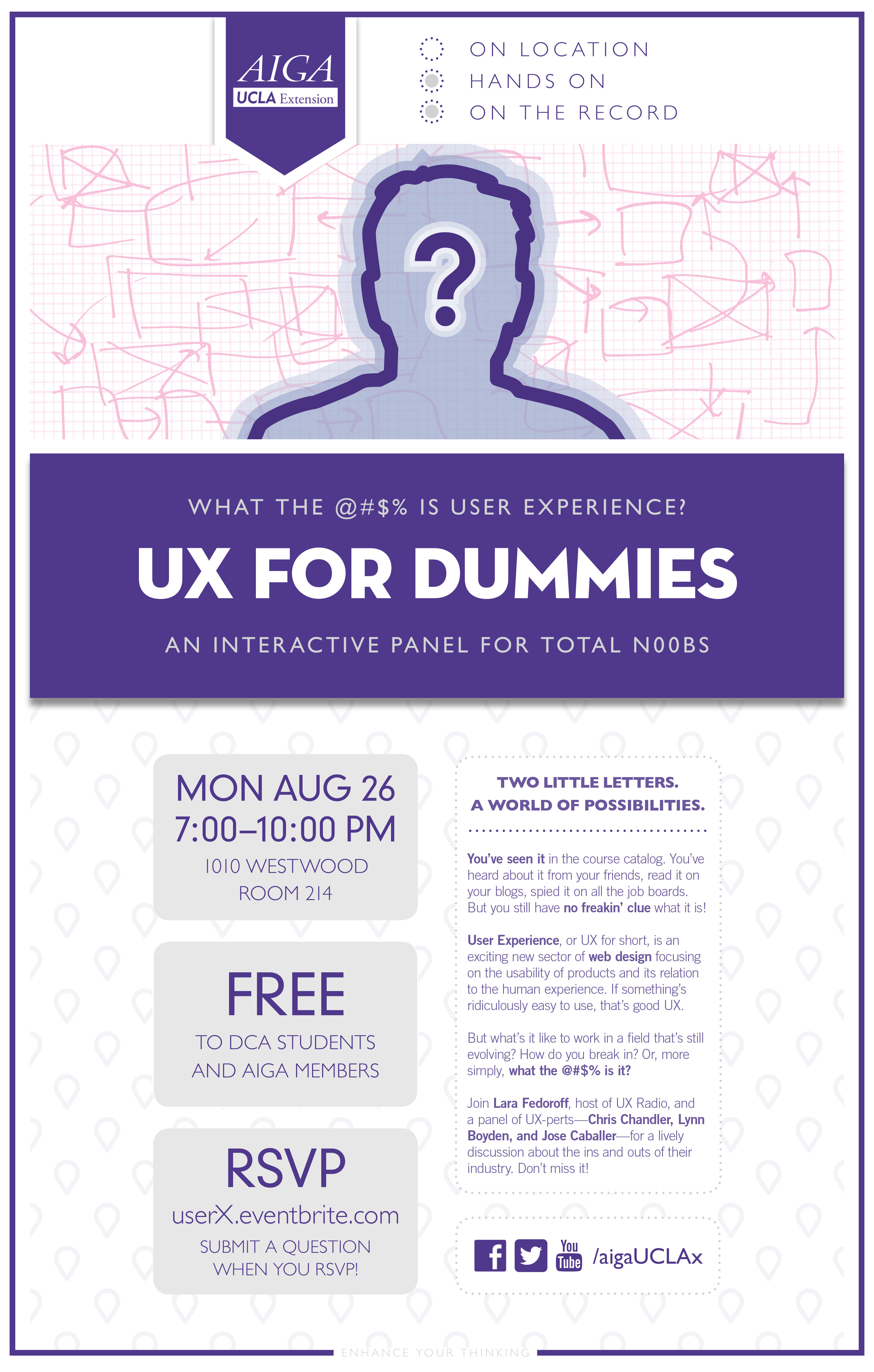 AIGA UCLAx UX Poster 080613